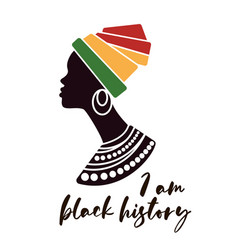 silhouette black afro-american woman vector image