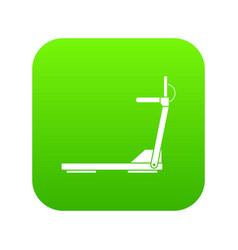 sport treadmill running road equipment icon vector image