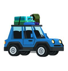 Sport utility vehicle flat vector