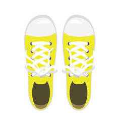 sports shoes gym shoes keds yellow colors for vector image