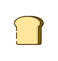 toast bread color outline icon vector image