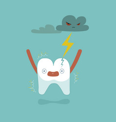 Tooth was lightning made it broken vector