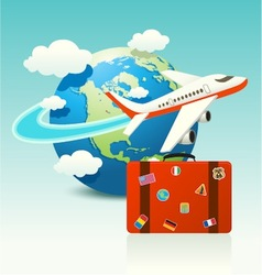 Travel Icon with Luggage vector