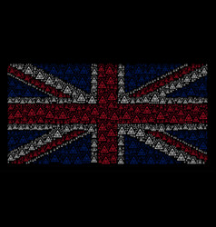 Uk flag pattern of total control eye piramide vector