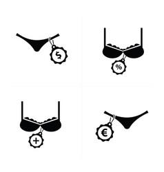 Underwear woman icon design vector