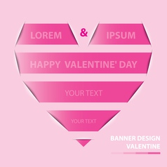 Valentine banner design vector