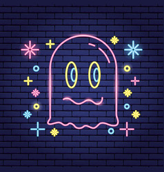 Video game neon vector