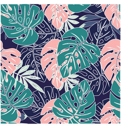Wallpapers tropical leaves vector