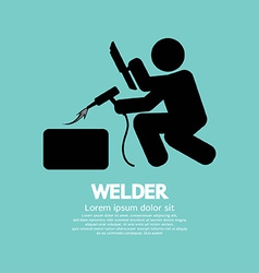 Welder Graphic Sign vector image