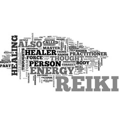 What is reiki text word cloud concept vector