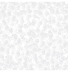 White abstract background with 3D paper cut houses vector image