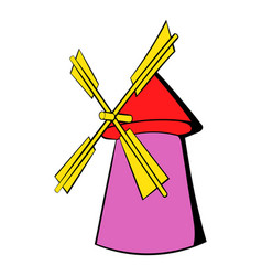 windmill icon cartoon vector image