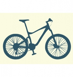 bicycle illustration vector image