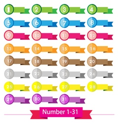 Colorful signs number vector image vector image