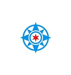 north star abstract logo vector image