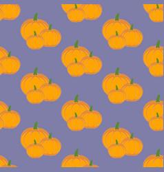 pumpkin vegetable pattern vector image vector image