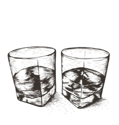 Two glasses with liquid vector image vector image