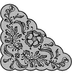 Vintage lace element ornamental flowers texture vector image