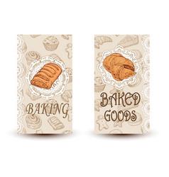 hand drawn sketch bread posters set eco vector image vector image
