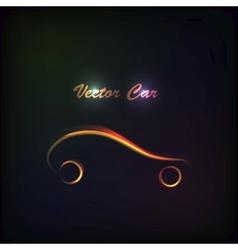 Luminous silhouette car sign vector