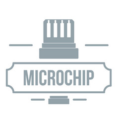 new technology logo simple gray style vector image vector image