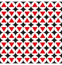 Seamless abstract geometric pattern red black vector image vector image