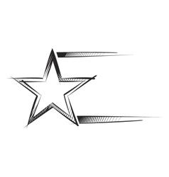 star sketch vector image