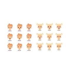 Kids emoji face vector image vector image