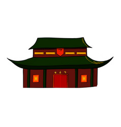 sketch of the traditional chinese house vector image