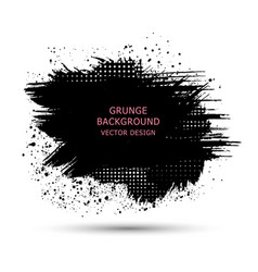 black paint ink brush strokes brushes lines vector image