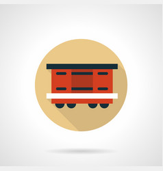 covered wagon beige round icon vector image vector image