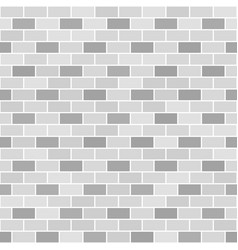 Gray brick wall pattern seamless brick background vector
