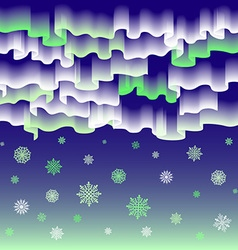 Northern lights Abstract background merry vector image