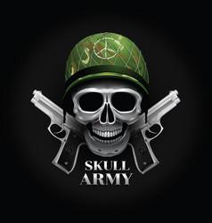 Skull logo soldier vector