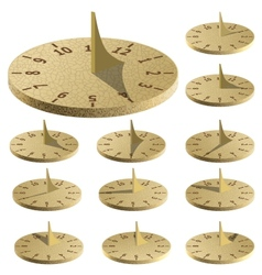 Sundial Measure time by the sun vector image