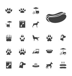 22 dog icons vector