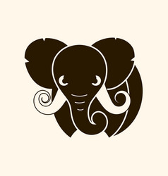 african safari elephant logo vector image