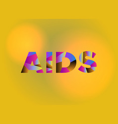 aids concept colorful word art vector image
