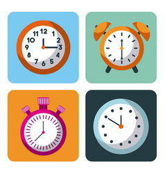 alarm clock stopwatch time management business vector image