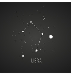 Astrology sign Libra on chalkboard background vector