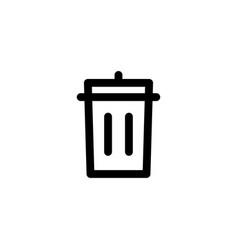 bin delete icon vector image