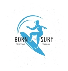 Born to surf t-shirt graphics Vintage vector image