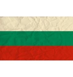 Bulgaria paper flag vector