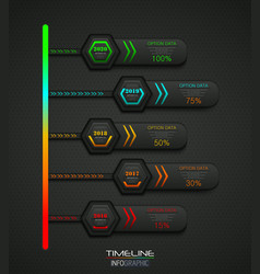 business infographic timeline process template vector image