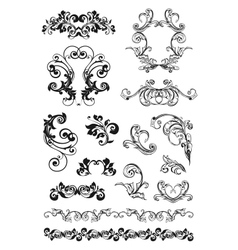 Calligraphic design set vector