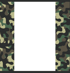 camouflage frame icon vector image