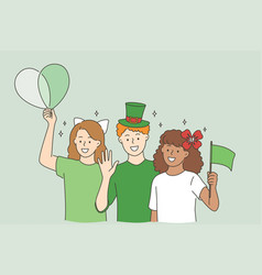 celebrating saint patrick day concept vector image