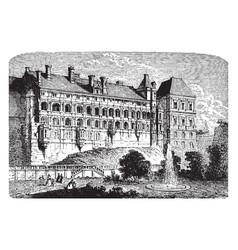 Chateau of blois the loir-et-cher dpartement vector