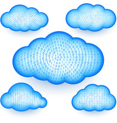 Cloud storage virtual digital binary information vector