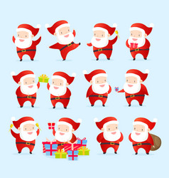 collection christmas santa vector image